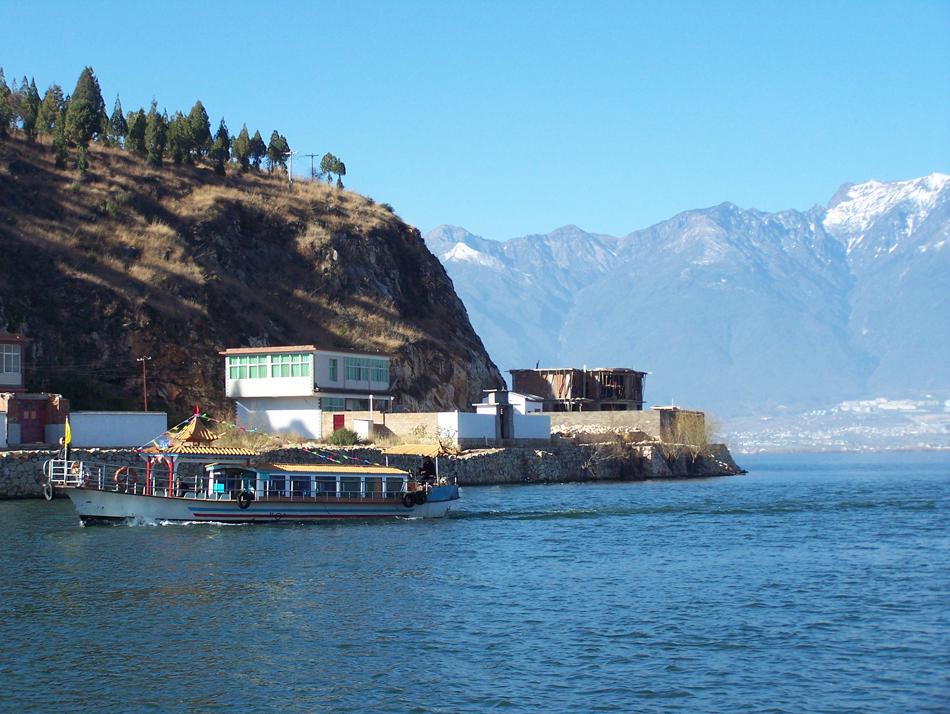 立省105元,大理洱海小型游船票特价75元*含金梭岛和天镜阁