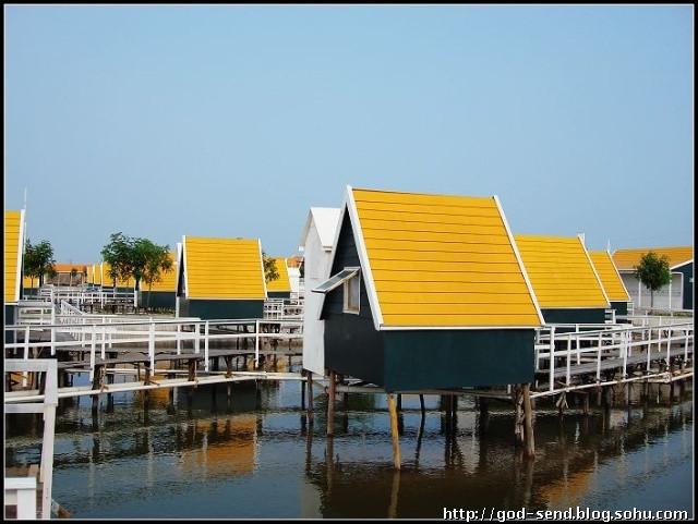 月坨岛住宿预定 荷兰小木屋 带独立卫生间连体别墅 月坨岛 浅水湾