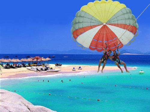 分界洲岛拖伞|三亚分界洲岛海上娱乐项目|三亚海上