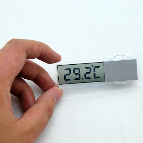 车载温度计 汽车电子表 透明液晶超准 爱车必备 吸盘式车载温度计