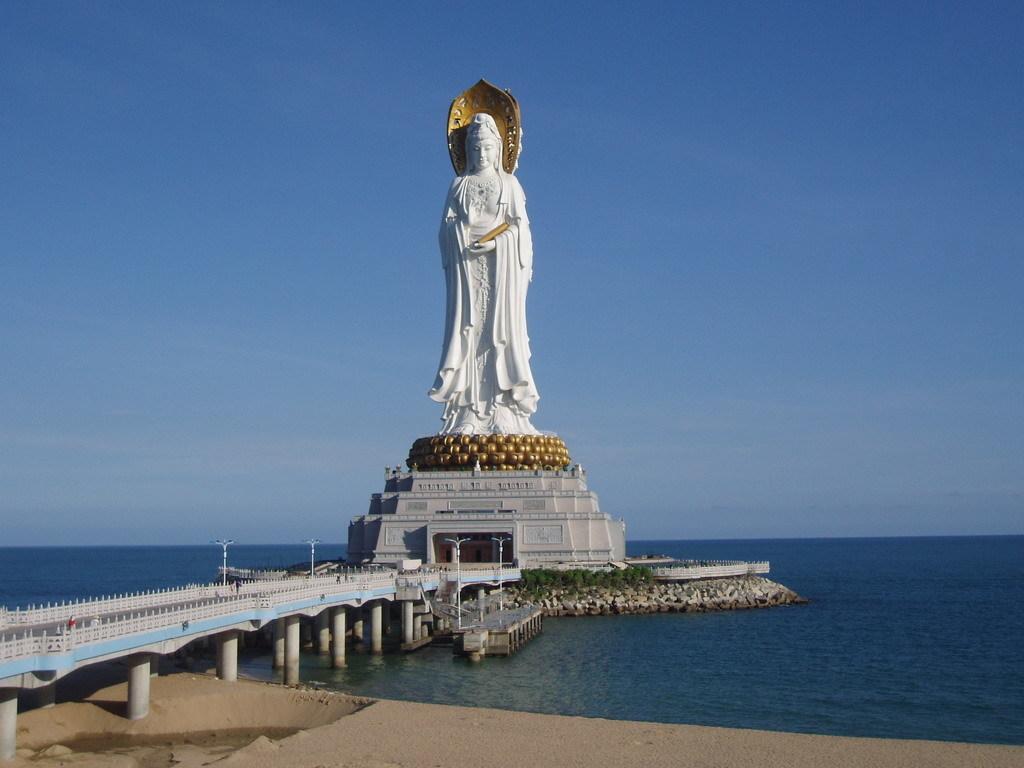 海南三亚旅游 南山寺门票 海上观音像