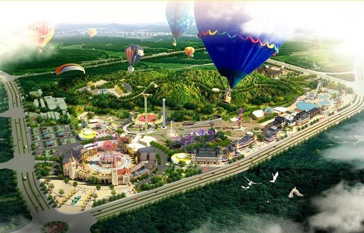 蚌埠花鼓灯嘉年华游乐园 含水上乐园高清图片