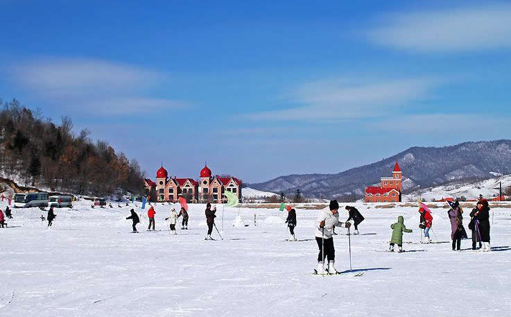 怀北滑雪场大图神农架滑雪场麻条北妃最新大图