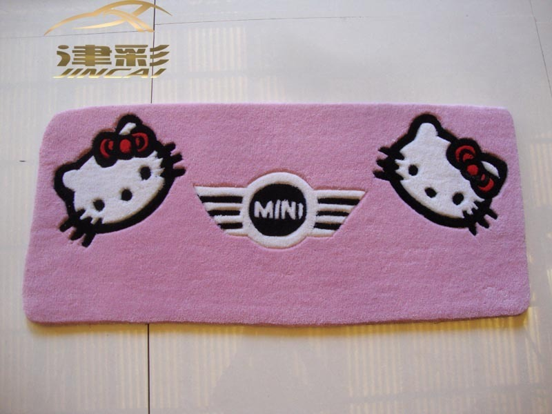 宝马迷你 mini 汽车后备箱垫 汽车尾箱垫 可爱卡通 车垫 地毯高清图片