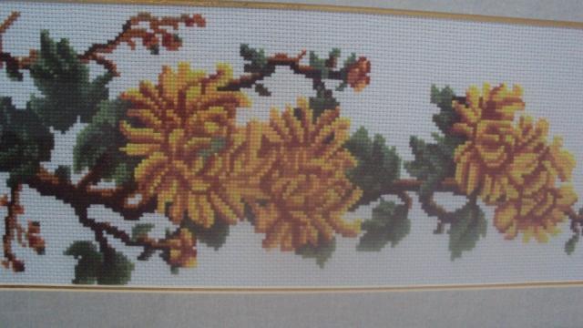 十字绣     菊花