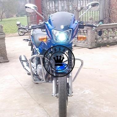 豪爵铃木125k-2钻豹王专用摩托车改装配件双光透镜