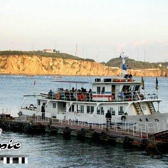 > 大连旅游 大连老虎滩海洋公园海上观光游轮 感受海天一色;