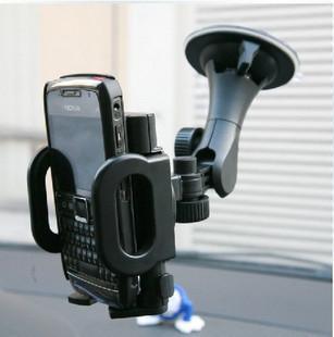 车载手机架 车用iphone4S车载手机支架 出风口手机座 万能导航架高清图片