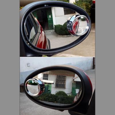 后视镜小圆镜 银 3r无盲区360