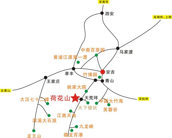 上海江苏到安吉自助游路线:申苏浙皖高速