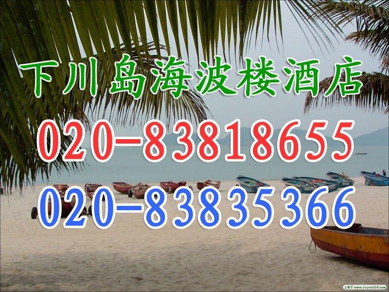 台山下川岛桂园酒店海波楼园景双人房(一线海边酒店)