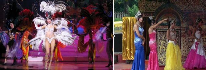 红艺人歌舞表演