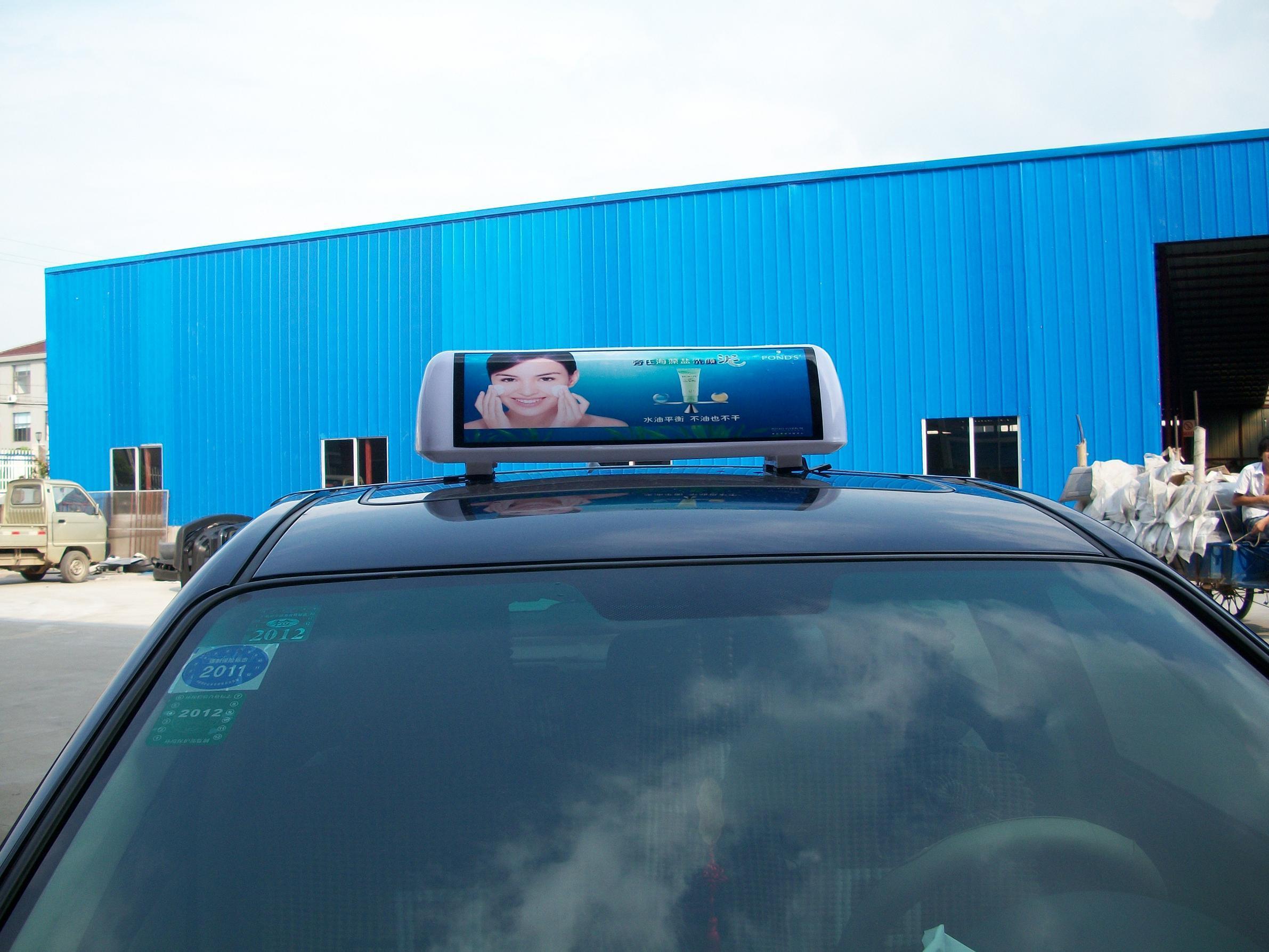 重庆长寿区出租车顶灯广告_【内蒙古出租车顶灯出租车广告屏出租车顶灯屏